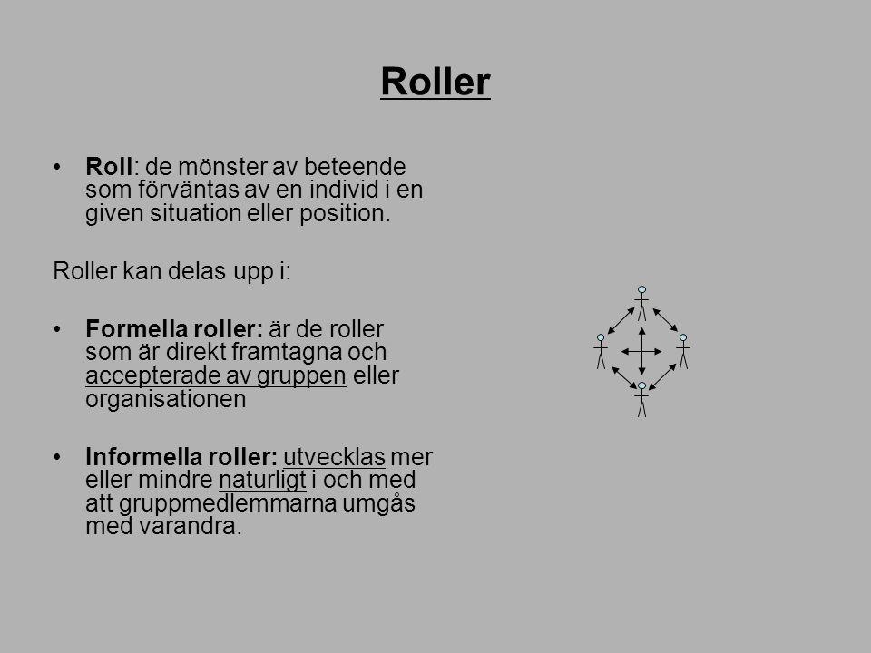 Roller Roll: de mönster av beteende som förväntas av en individ i en given situation eller position.