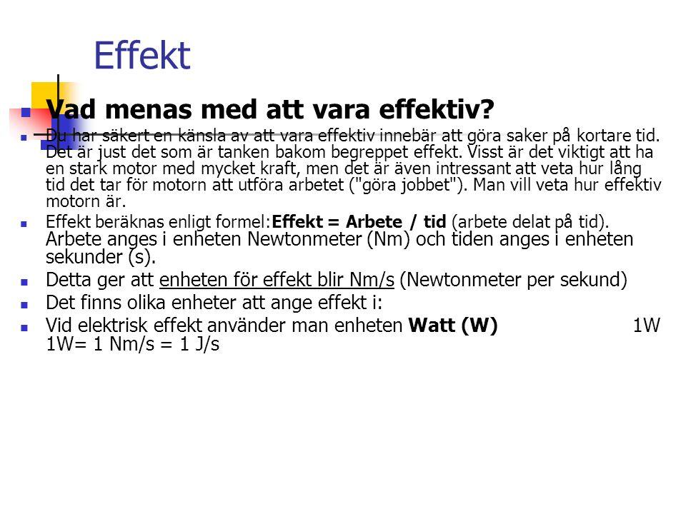 Effekt Vad menas med att vara effektiv.