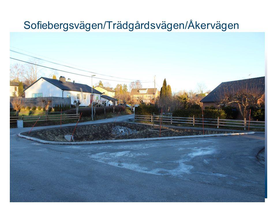 Sofiebergsvägen/Trädgårdsvägen/Åkervägen