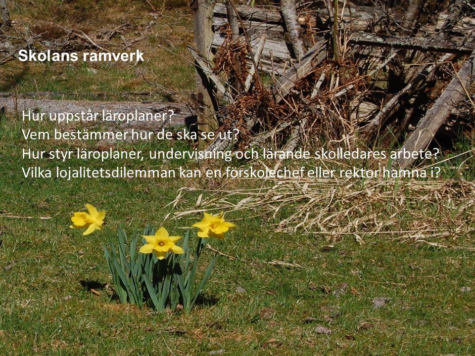 www.gu.se Skolans ramverk Hur uppstår läroplaner. Vem bestämmer hur de ska se ut.