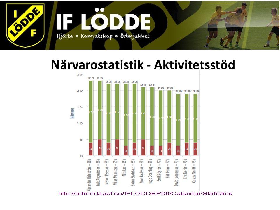 Närvarostatistik - Aktivitetsstöd