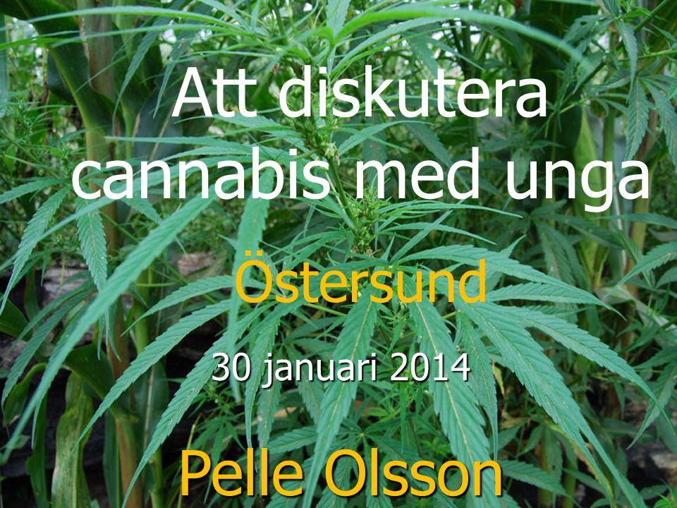 Att diskutera cannabis med unga Östersund 30 januari 2014 Pelle Olsson