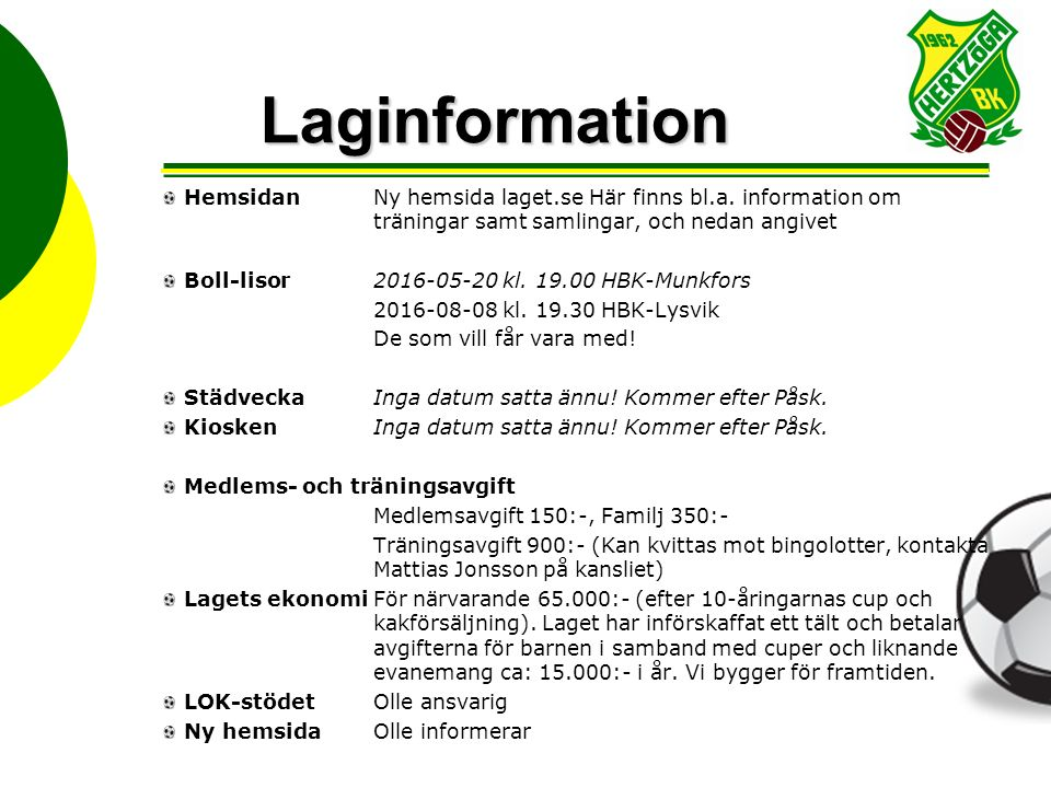 Laginformation forts.