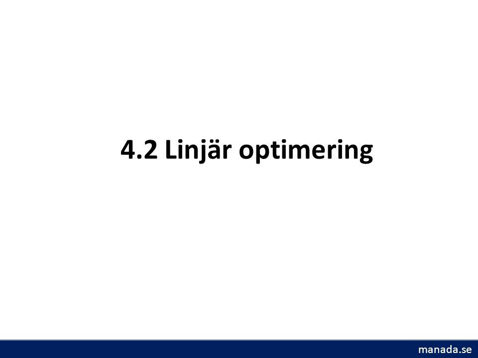 4.2 Linjär optimering manada.se