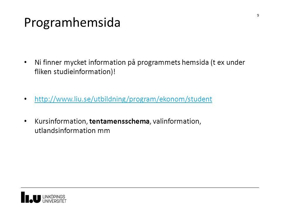Kurshemsidor 10 Polopoly Företaget och den globala marknaden http://www.iei.liu.se/nek/722g41?l=sv Organisation http://www.iei.liu.se/fek/722g67?l=sv LISAM http://www.liu.se/utbildning/program/ekonom/student/filer-och- dokument/1.578663/Lisamintrsv.pdf http://www.liu.se/utbildning/program/ekonom/student/filer-och- dokument/1.578663/Lisamintrsv.pdf