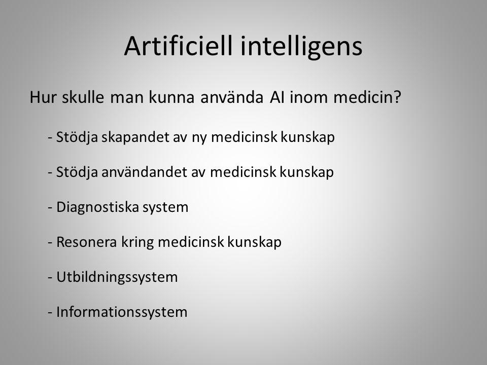 Artificiell intelligens Hur vet man att något man skapat är intelligent.