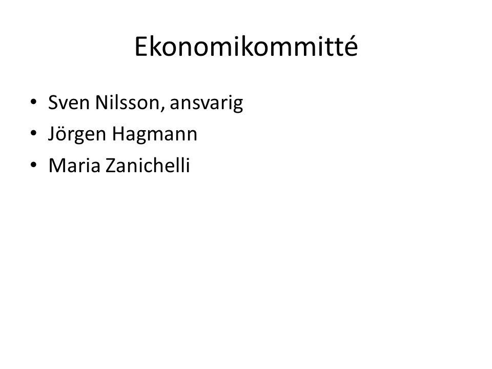 Ekonomikommitté Sven Nilsson, ansvarig Jörgen Hagmann Maria Zanichelli