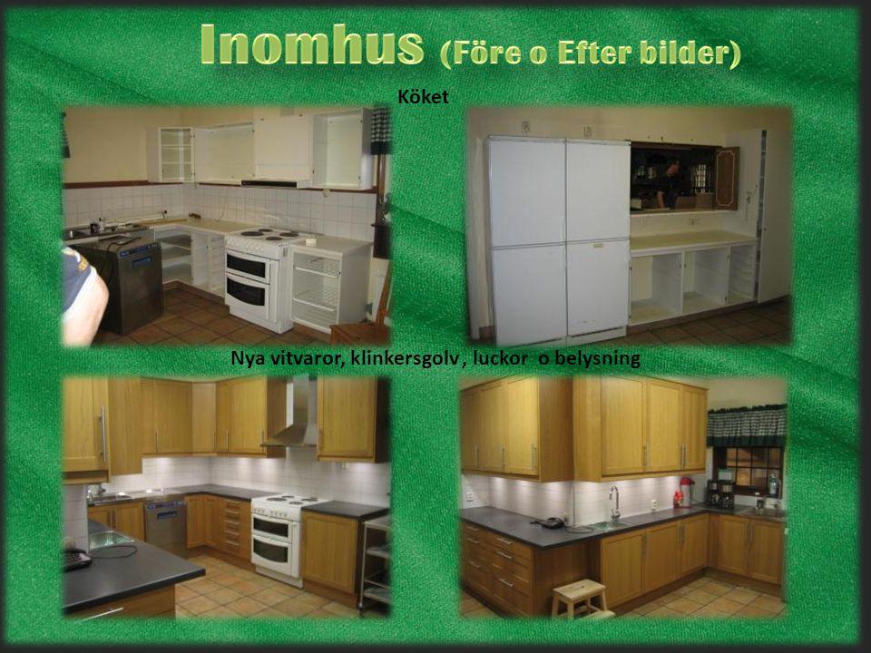 Nytt Golv, möbler,element, värmepump Salen