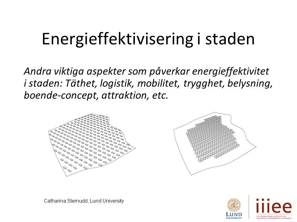 Det finns en stor potential att utforma bättre styrmedelsstrategier för en effektivare energianvändning!!