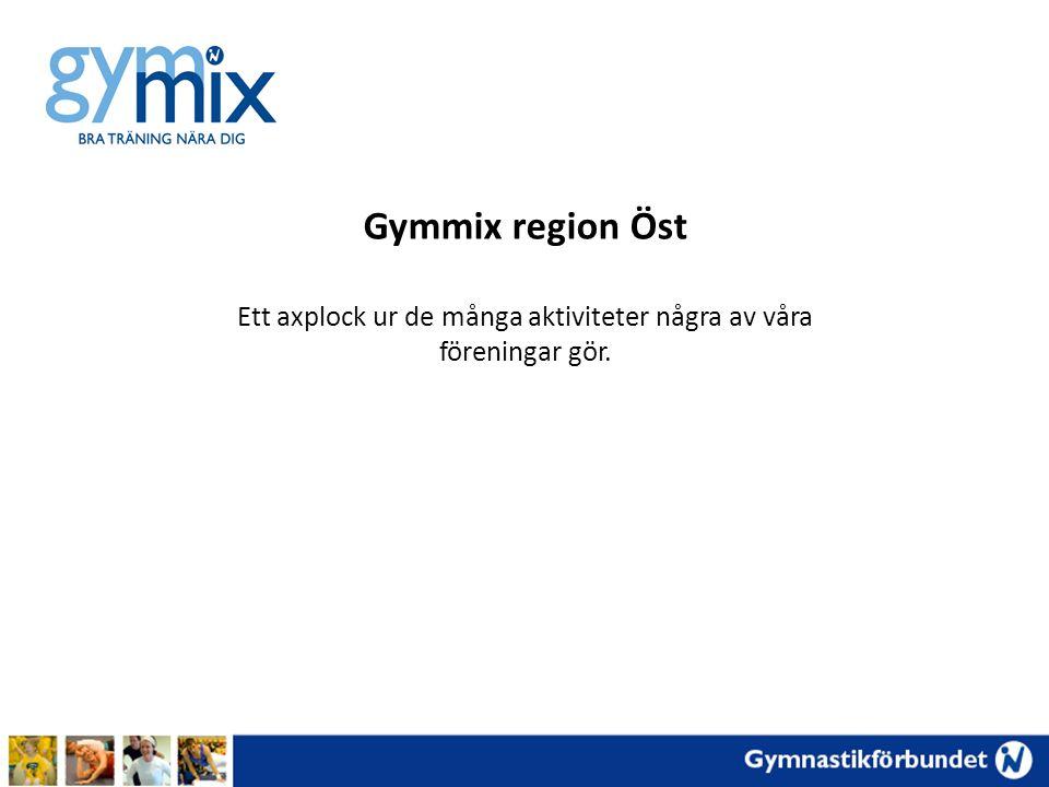 Gymmix region Öst Ett axplock ur de många aktiviteter några av våra föreningar gör.