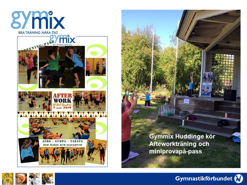 Gymmix Huddinge kör Afteworkträning och miniprovapå-pass