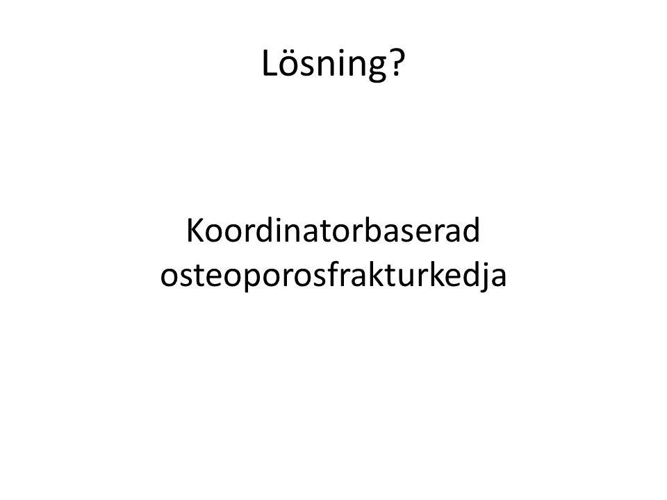 Lösning Koordinatorbaserad osteoporosfrakturkedja