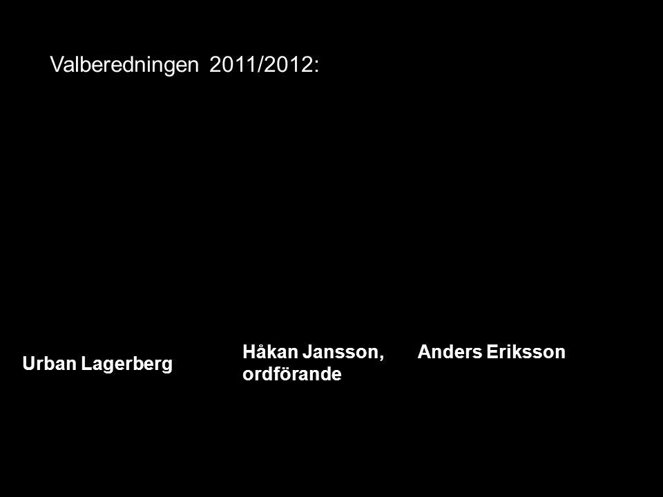 Valberedningen 2011/2012: Urban Lagerberg Håkan Jansson, Anders Eriksson ordförande