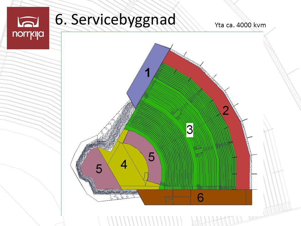 6. Servicebyggnad Yta ca. 4000 kvm