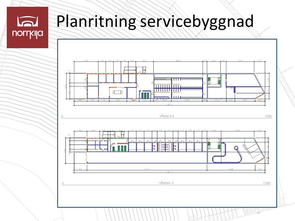 Planritning servicebyggnad