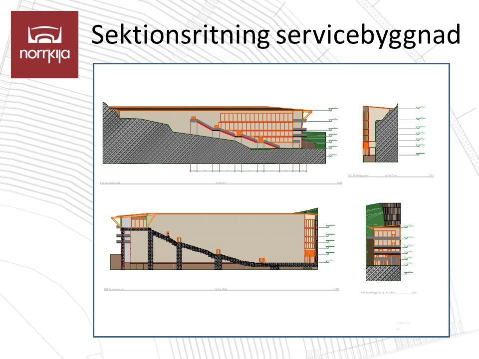Sektionsritning servicebyggnad