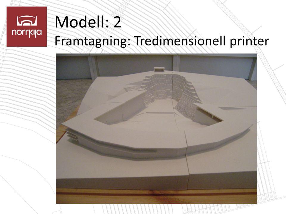 Modell: 2 Framtagning: Tredimensionell printer