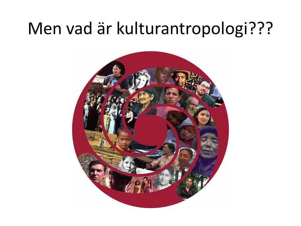 Men vad är kulturantropologi???