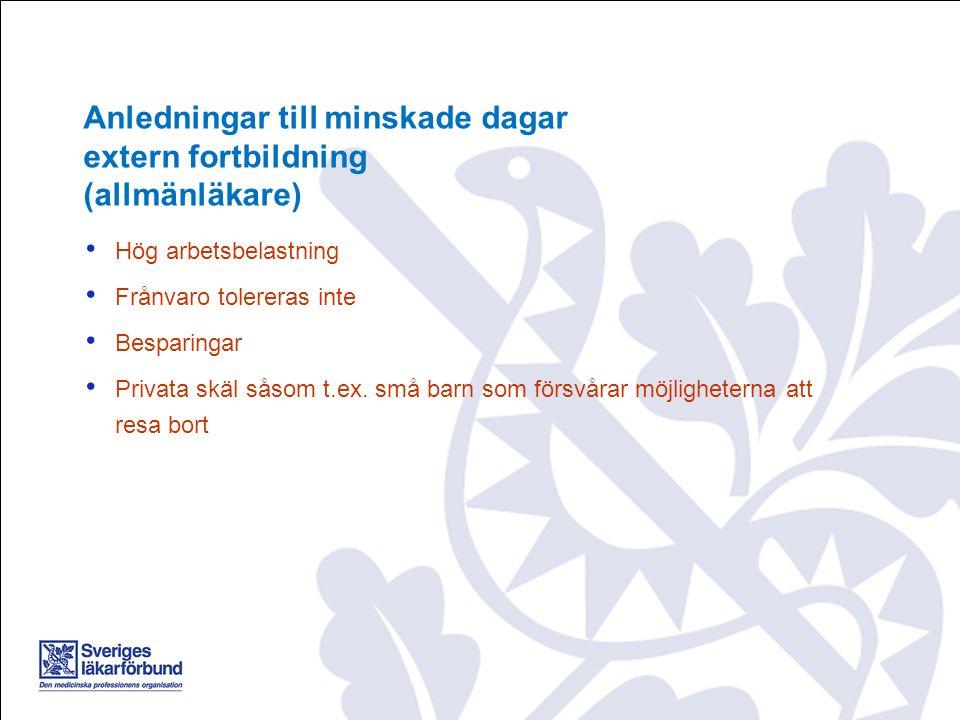 Hög arbetsbelastning Frånvaro tolereras inte Besparingar Privata skäl såsom t.ex. små barn som försvårar möjligheterna att resa bort Anledningar till