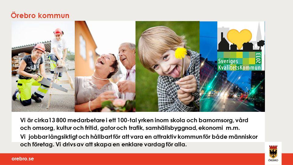 orebro.se Kanalstrategi Det ska vara enkelt för medborgare och företag att ta och få kontakt med kommunen.