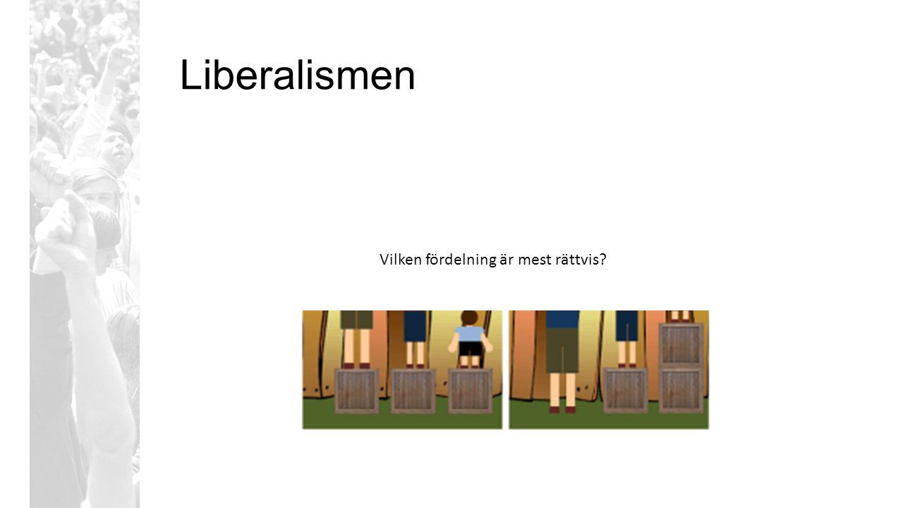 Liberalismen Vilken fördelning är mest rättvis?
