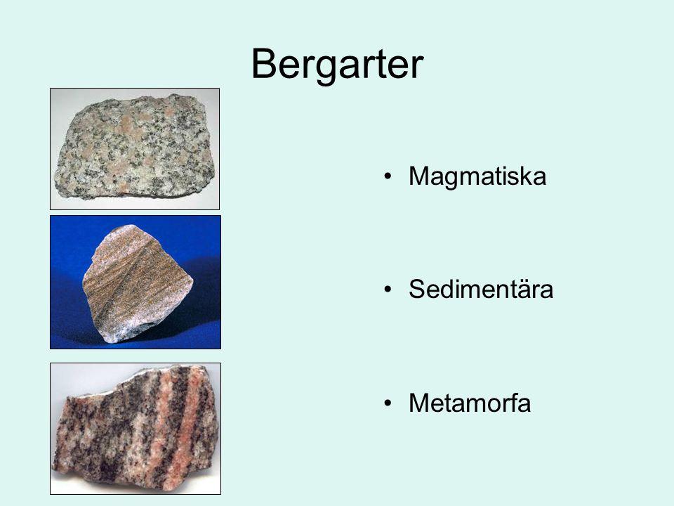 Bergarter Magmatiska Sedimentära Metamorfa