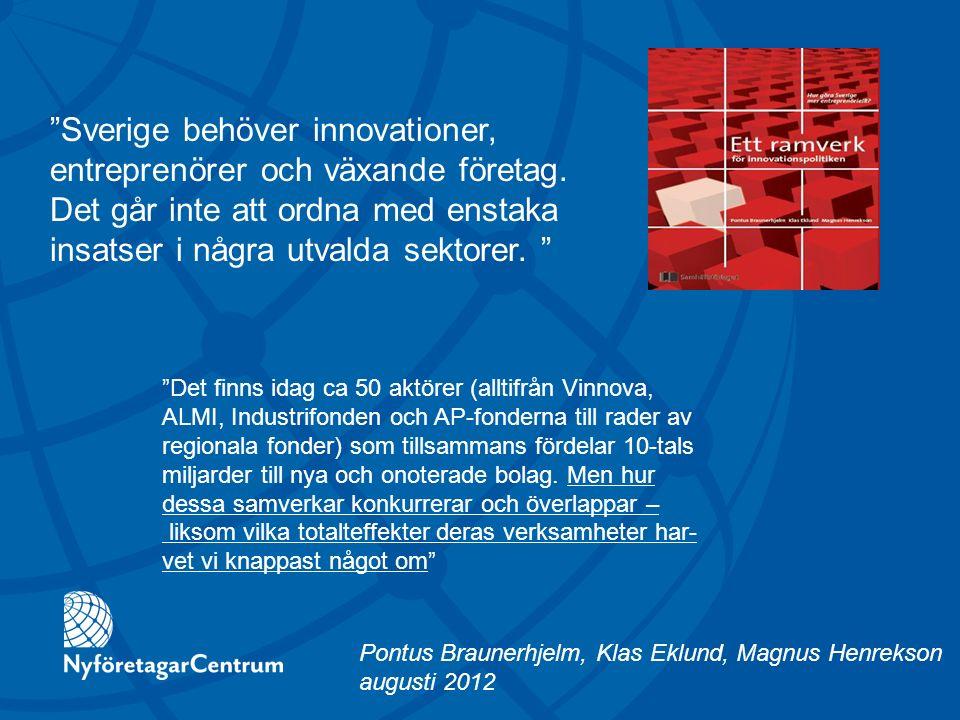 Ett bättre innovationsklimat börjar i bättre villkor och rätt drivkrafter för entreprenörskap och företagande.