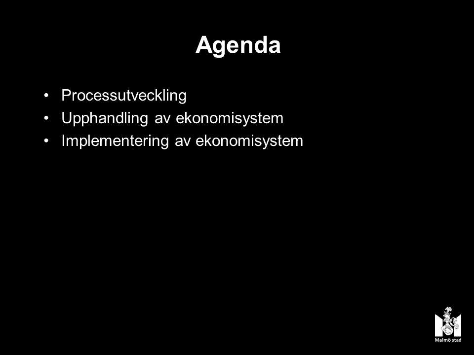 Agenda Processutveckling Upphandling av ekonomisystem Implementering av ekonomisystem