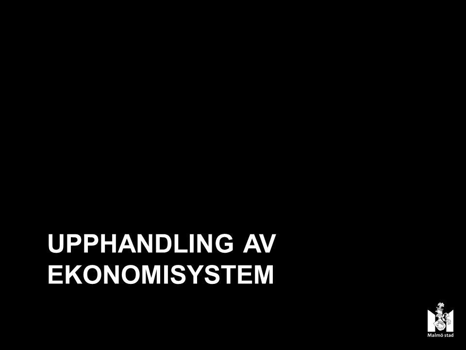 UPPHANDLING AV EKONOMISYSTEM