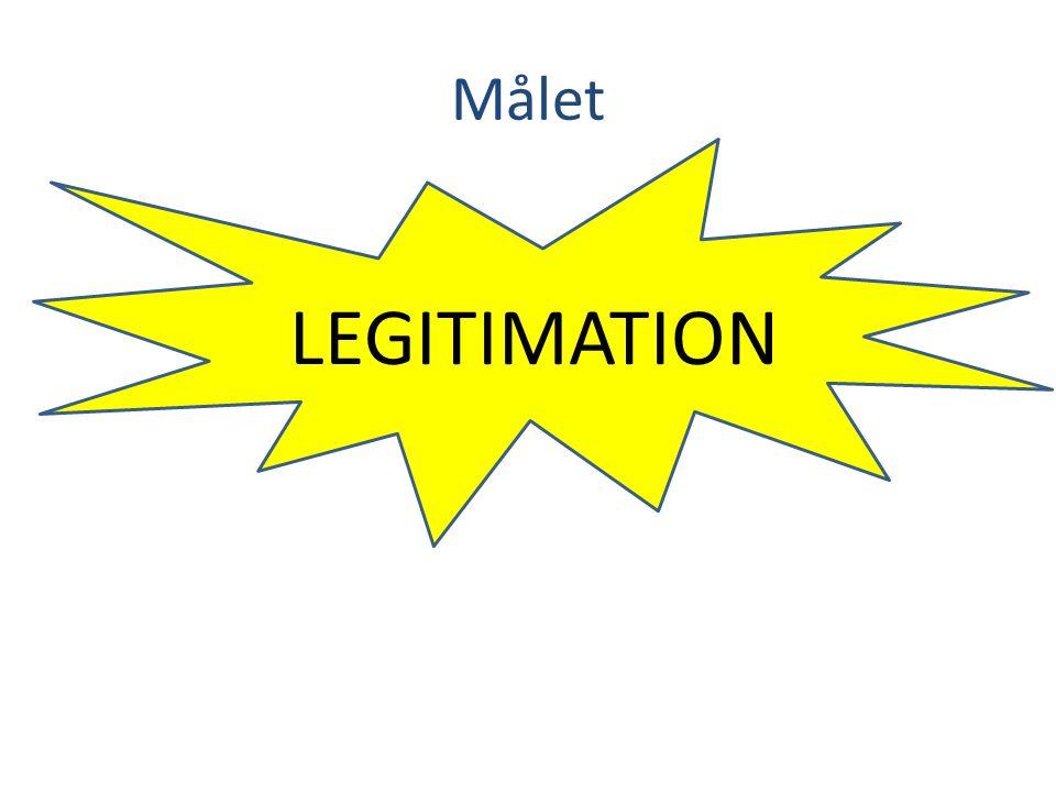 Målet LEGITIMATION