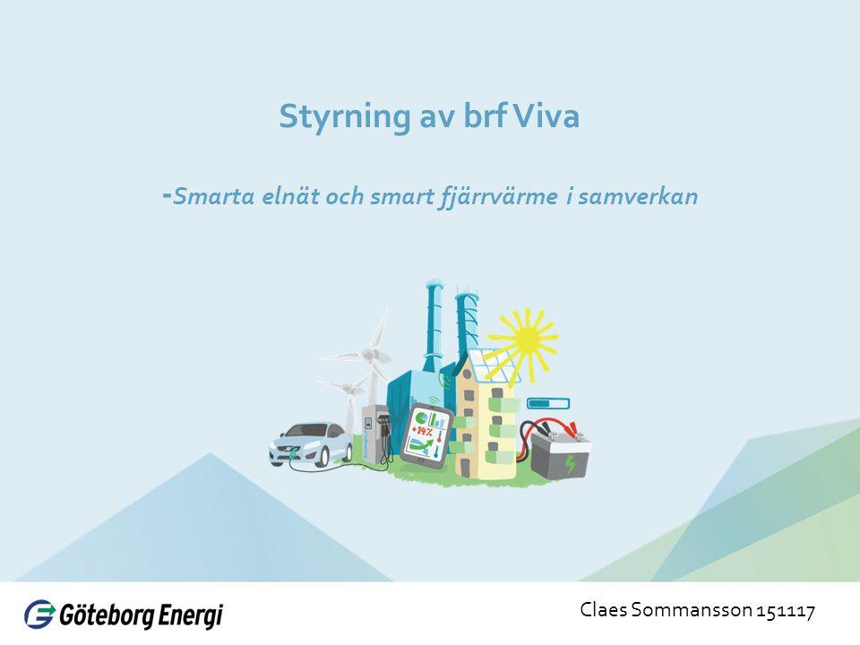 Styrning av brf Viva - Smarta elnät och smart fjärrvärme i samverkan Claes Sommansson 151117