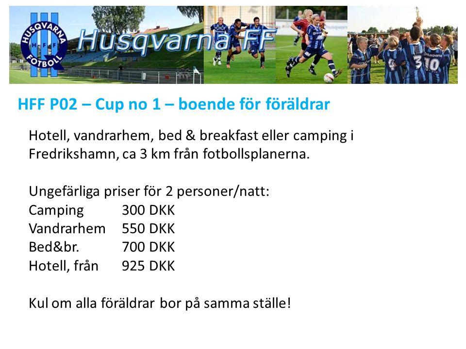 HFF P02 – Cup no 1 – boende för föräldrar Hotell, vandrarhem, bed & breakfast eller camping i Fredrikshamn, ca 3 km från fotbollsplanerna.