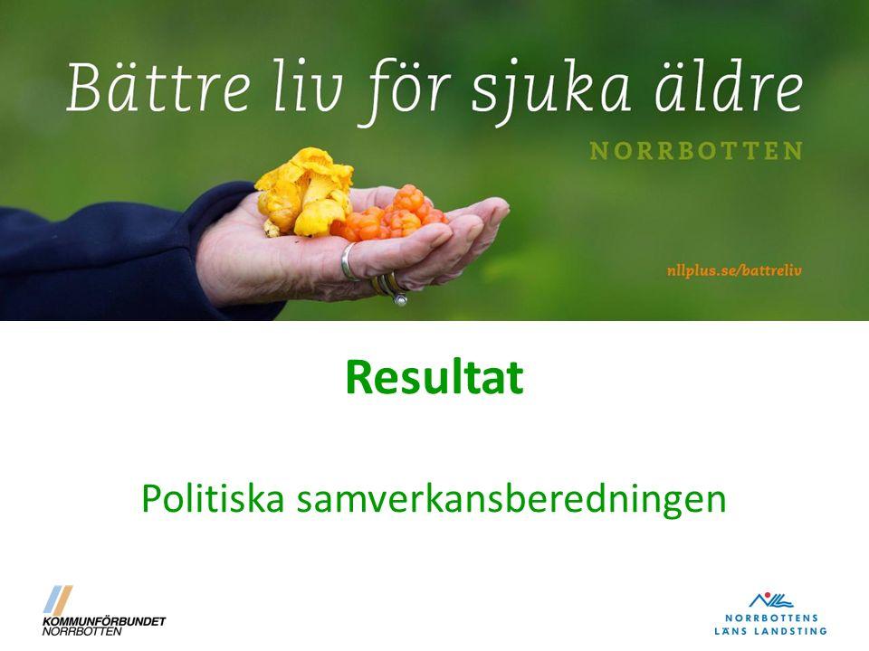 Resultat Politiska samverkansberedningen
