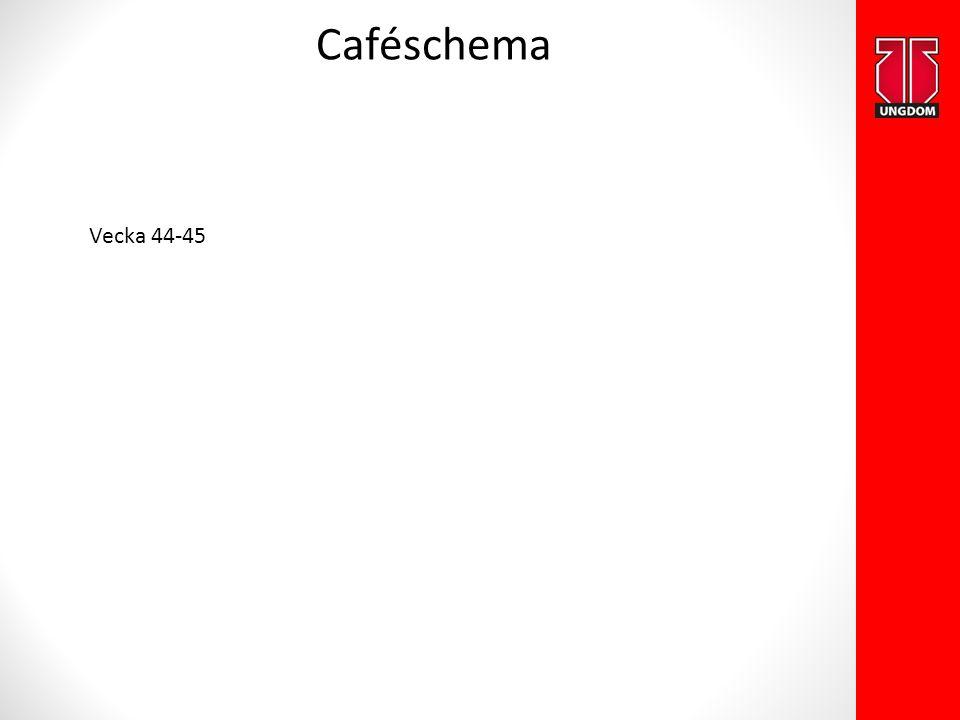 Caféschema Vecka 44-45