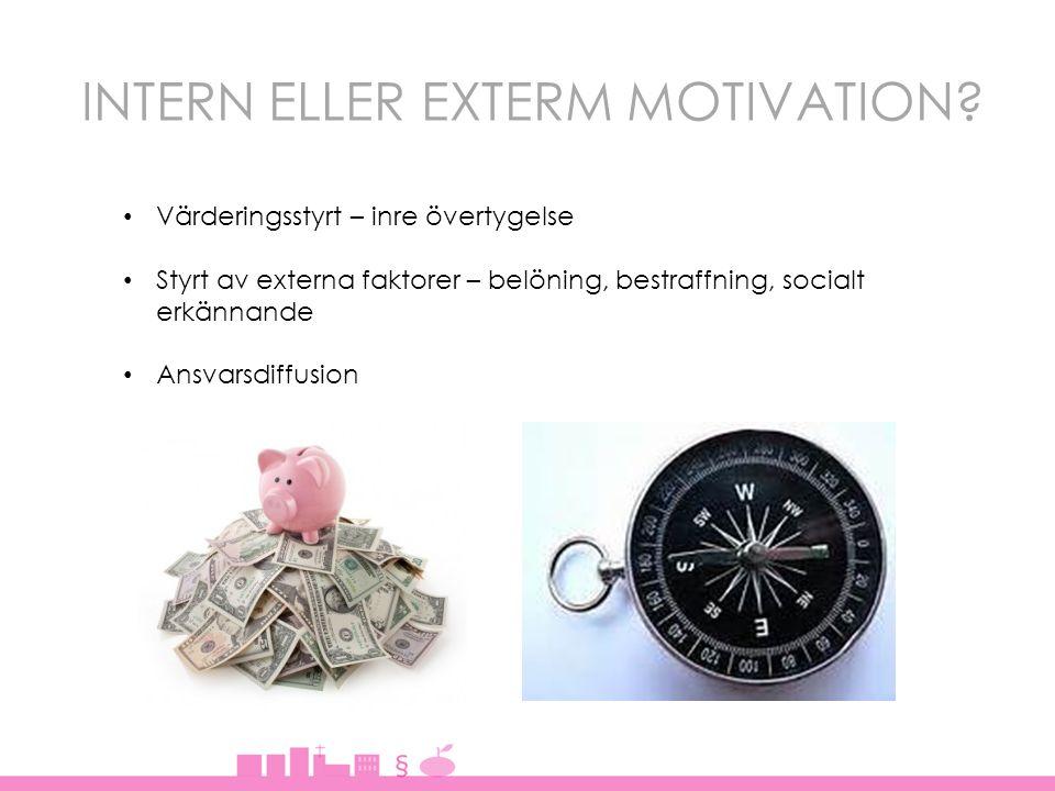 INTERN ELLER EXTERM MOTIVATION.