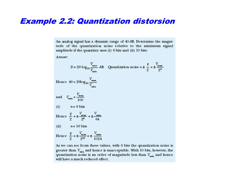 Signal-to-quantization ratio (SQR)