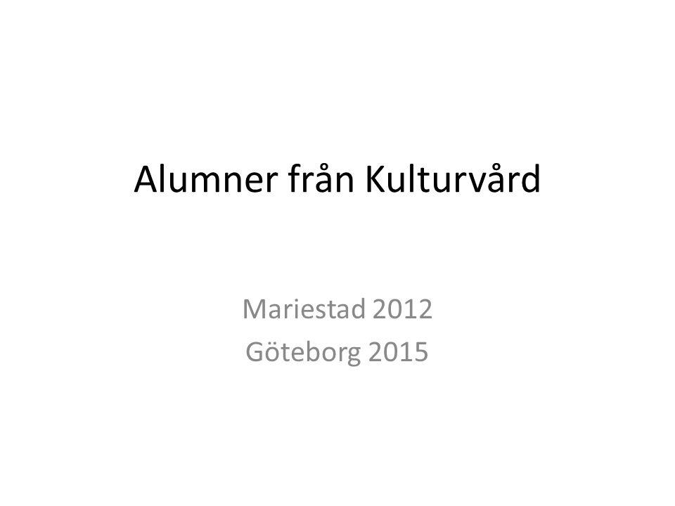 Alumner från Kulturvård Mariestad 2012 Göteborg 2015