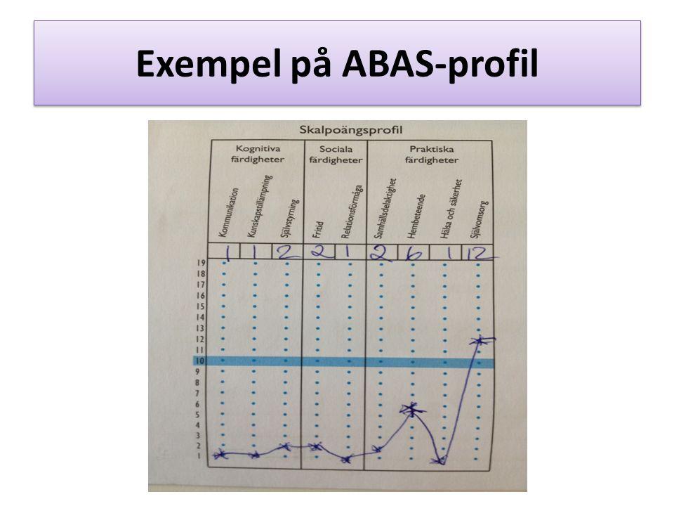 Exempel på ABAS-profil