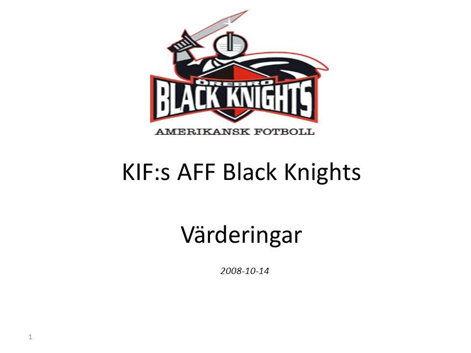 1 KIF:s AFF Black Knights Värderingar 2008-10-14