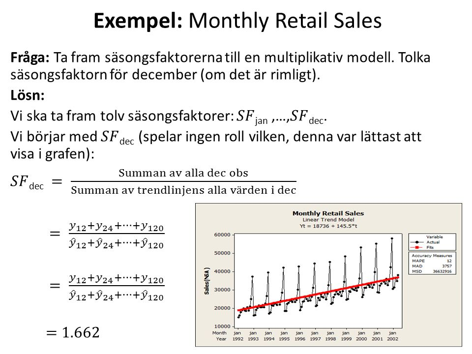 Exempel: Monthly Retail Sales 27