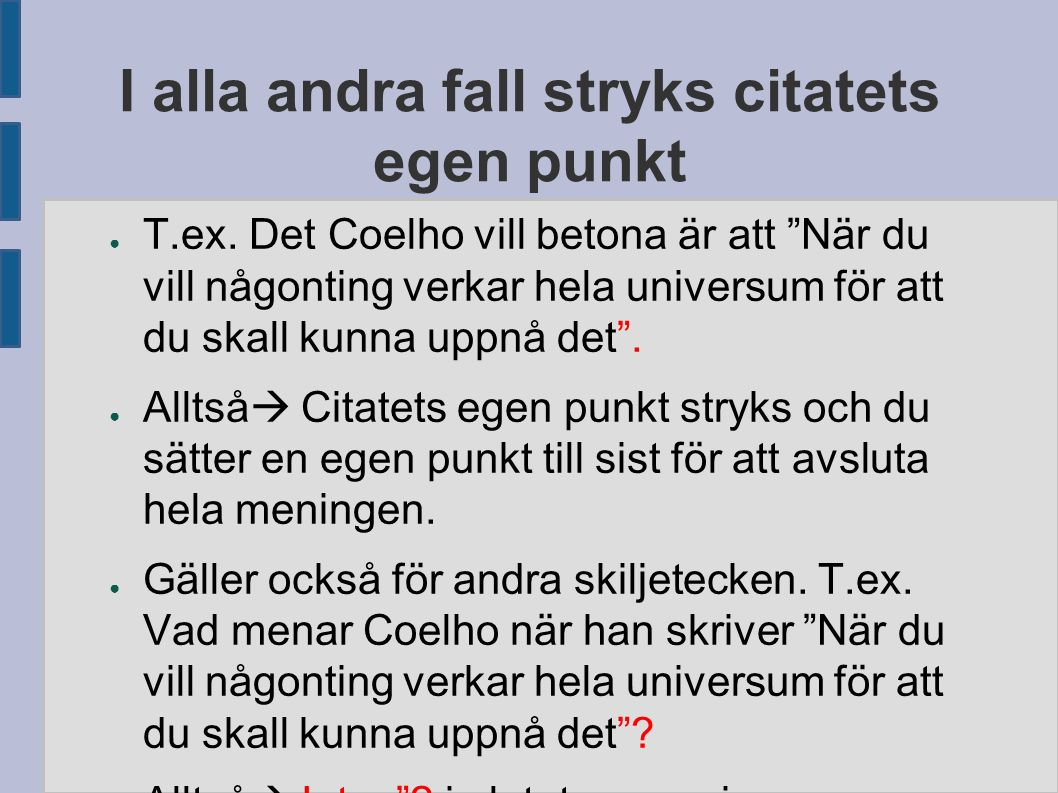 ● T.ex.