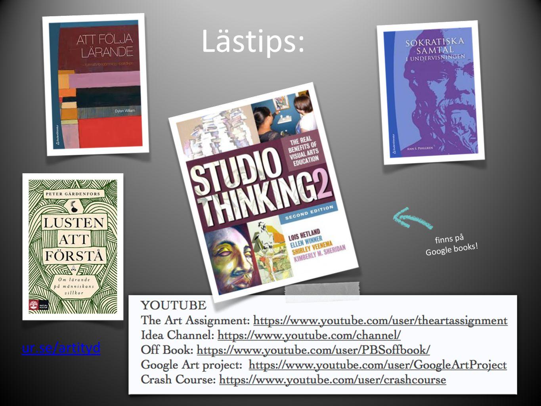 Lästips: finns på Google books! ur.se/artityd