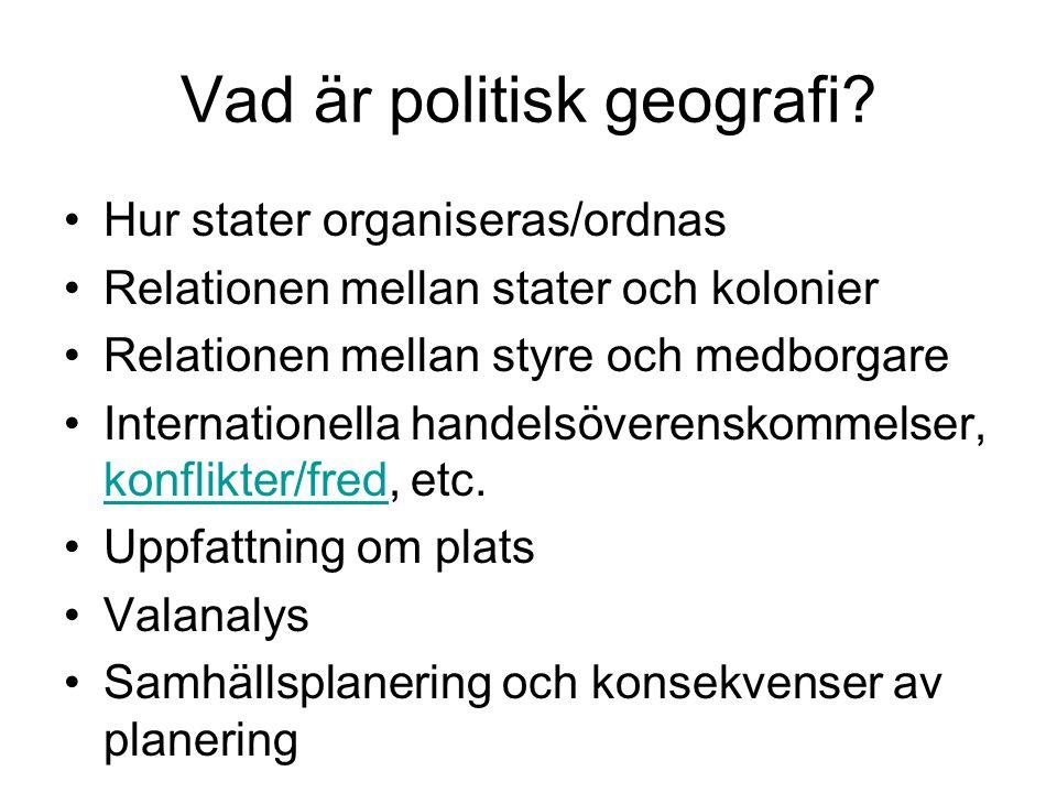 Vad är politisk geografi.