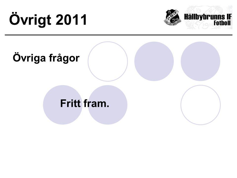 Övrigt 2011 Övriga frågor Fritt fram.