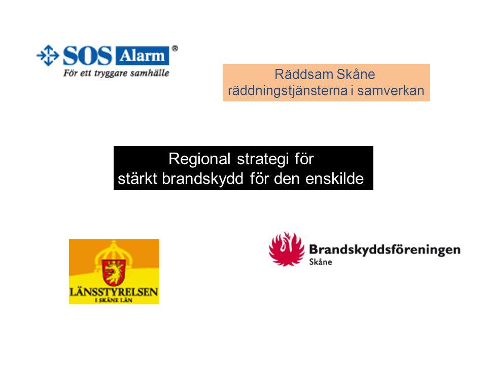 Räddsam Skåne räddningstjänsterna i samverkan Regional strategi för stärkt brandskydd för den enskilde