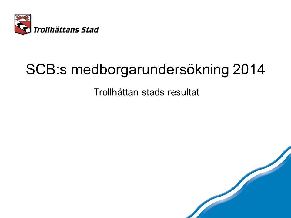 SCB:s medborgarundersökning 2014 Trollhättan stads resultat