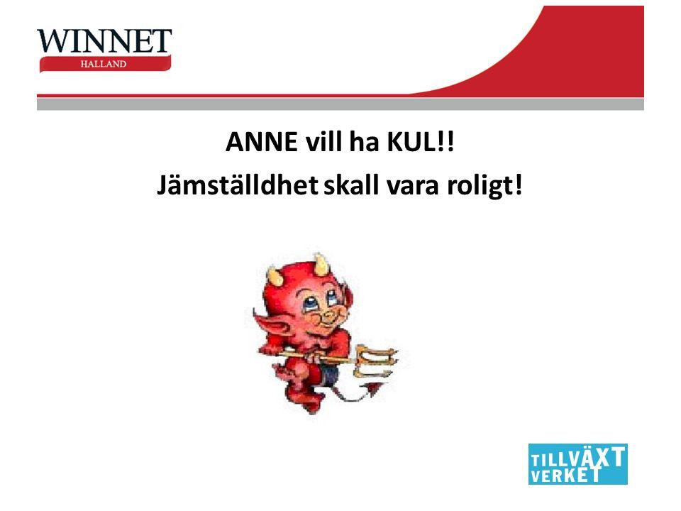 ANNE vill ha KUL!! Jämställdhet skall vara roligt!