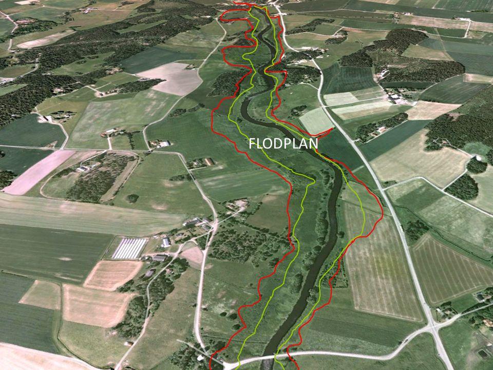 Flodplan = Översvämningsplan Översiktlig översvämningskartering MSB