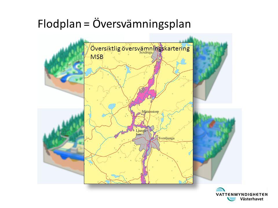 Dokumenterade översvämning fram tom 2005 SMHI SVAR MSB