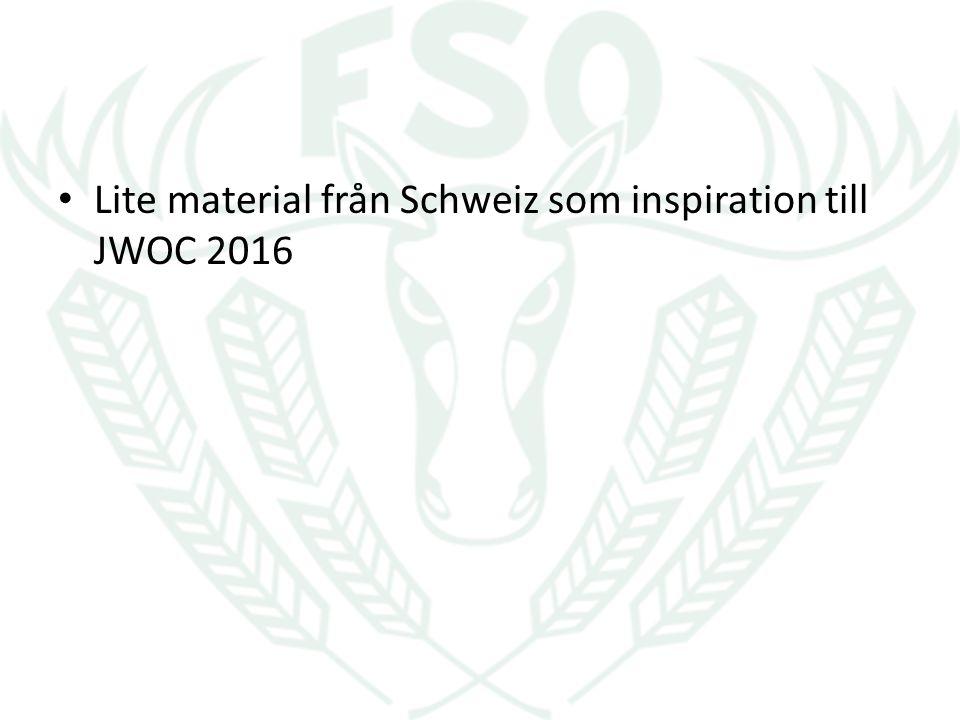 Lite material från Schweiz som inspiration till JWOC 2016